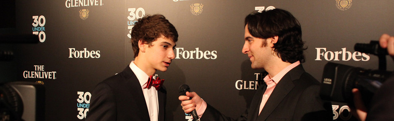 Jonny being interviewed by Forbes